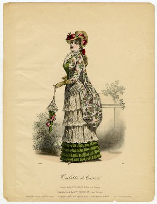 Toilette de Casino, Fashion plate from unidentified publication
