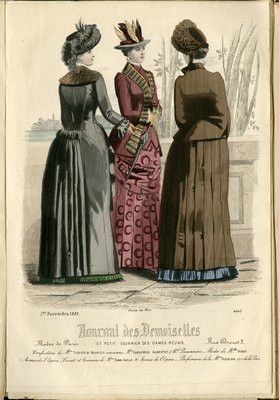 Fashion plate from Journal des Demoiselles, November 1, 1883