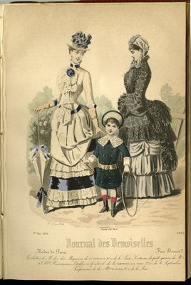 Fashion plate from Journal des Demoiselles, May 1, 1884
