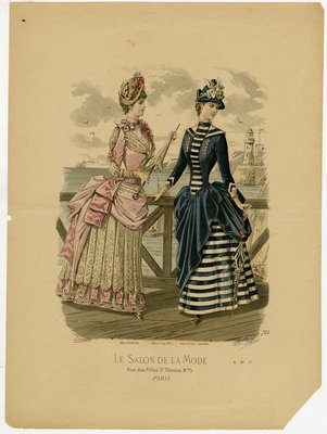 Fashion plate from Le Salon de la Mode