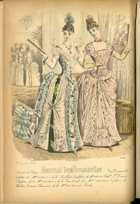 Fashion plate from Journal des Demoiselles, January 1, 1888