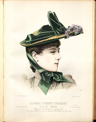 Fashion plate from La Moda Elegante Ilustrada, April 14, 1890
