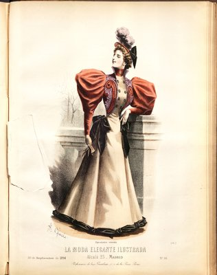 Fashion plate from La Moda Elegante Ilustrada