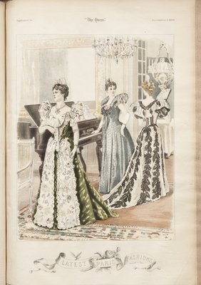 Fashion plate from The Queen, December 5, 1896