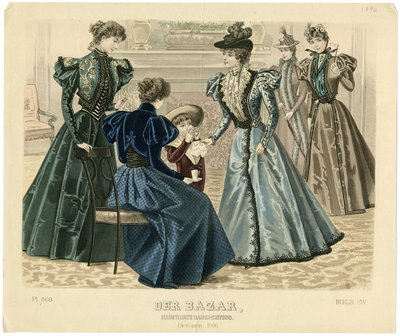 Fashion plate from Der Bazar, October 1896