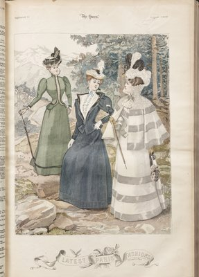 Fashion plate from The Queen, August 7, 1897