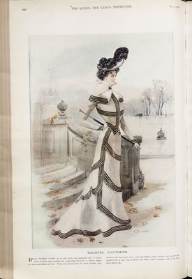 Toilette d'Automne, Fashion plate from The Queen, October 7, 1899
