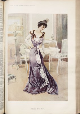 Robe de Bal, Fashion plate from The Queen, November 4, 1899