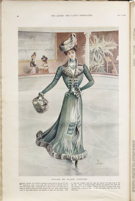 Palais de Glace Costume, Fashion plate from The Queen, January 6, 1900