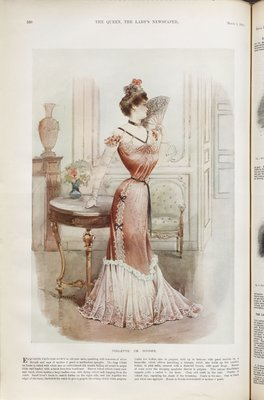 Toilette de Soiree, Fashion plate from The Queen, March 3, 1900
