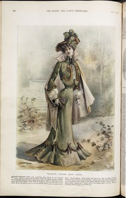 Fashion plate from The Queen, November 2, 1901