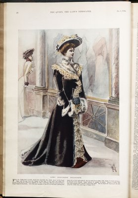 Fashion plate from The Queen, January 4, 1902