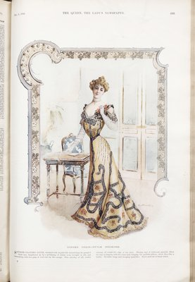 Fashion plate from The Queen, November 1, 1902