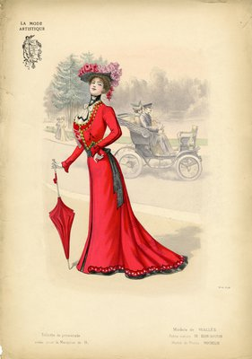 Toilette de Promenade, Fashion plate from La Mode Artistique