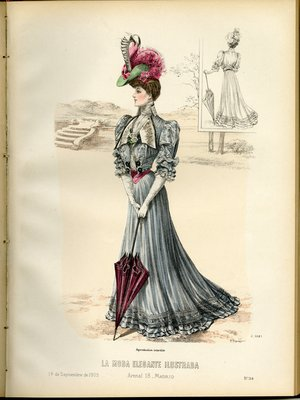 Fashion plate from La Moda Elegante Ilustrada, September 14, 1905