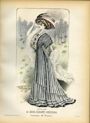 Fashion plate from La Moda Elegante Ilustrada, September 14, 1907