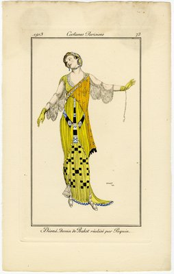 Costumes Parisiens, Fashion plate from Le Journal des Dames et des Modes, 1913