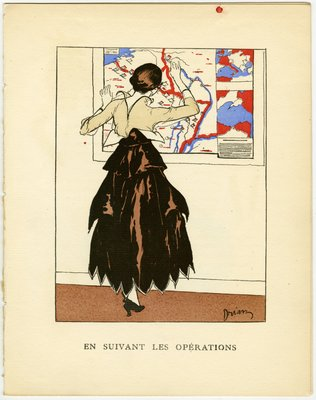 En Suivant Les Operations, Fashion plate from Gazette du Bon Ton