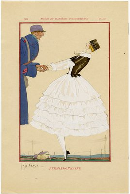Permissionaire, plate from Modes et Manieres d'Aujord'hui