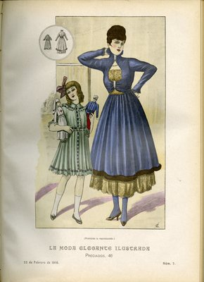 Fashion plate from La Moda Elegante Ilustrada, February 22, 1916