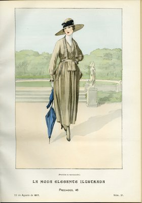 Fashion plate from La Moda Elegante Ilustrada, August 22, 1917
