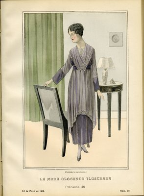 Fashion plate from La Moda Elegante Ilustrada, May 30, 1918