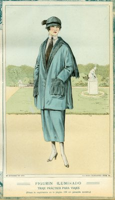 Fashion plate from La Moda Elegante Ilustrada, October 30, 1919