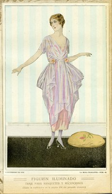 Fashion plate from La Moda Elegante Ilustrada, December 6, 1919