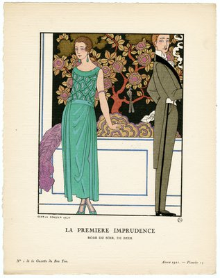 Premiere Imprudence, Fashion plate from Gazette du Bon Ton, 1921