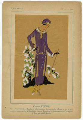 Amethyste, Fashion plate from Tres Parisien, 1923