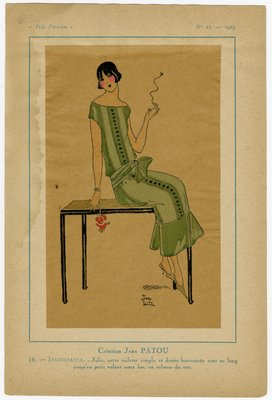 Insouiance, Fashion plate from Tres Parisien, 1923