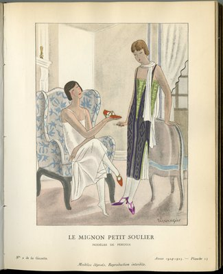 Mignon Petit Soulier, Fashion plate from Gazette du Bon Ton, 1924/1925