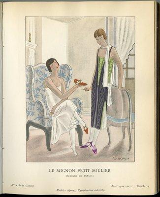 Mignon Petit Soulier, Fashion plate from Gazette du Bon Ton, 1924/1925