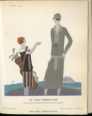 Cady Improvise, Fashion plate from Gazette du Bon Ton, 1924/1925