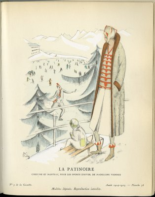 Patinoire, Fashion plate from Gazette du Bon Ton, 1924/1925