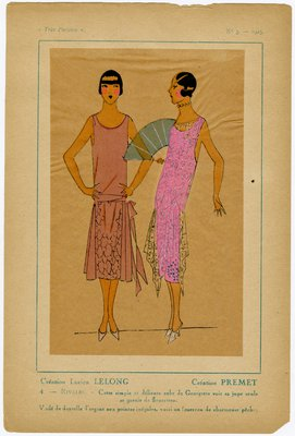 Rivales, Fashion plate from Tres Parisien, 1925