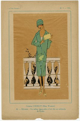 Reverie, Fashion plate from Tres Parisien, 1925