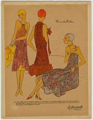 Fashion plate from Les Idées Nouvelles, 1926