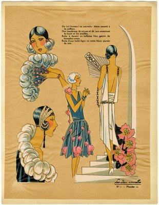 Fashion plate from Les Idées Nouvelles, 1927
