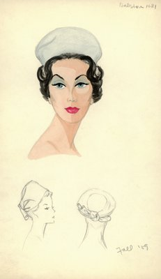 Halston gray pillbox hat