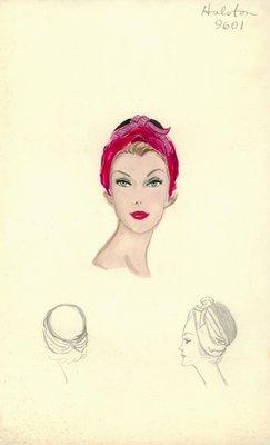 Halston fuchsia turban