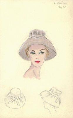 Halston mauve hat