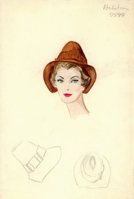 Halston brown fedora