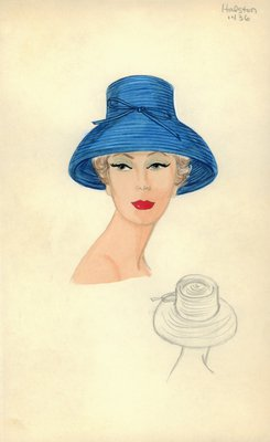 Halston straw hat