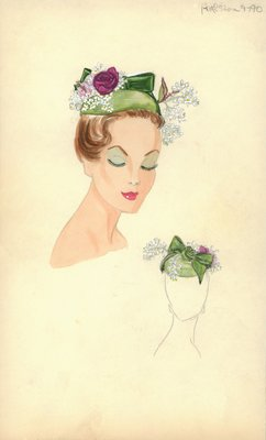 Halston green doll hat