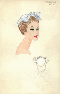 Halston white straw skullcap