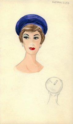 Halston blue beret