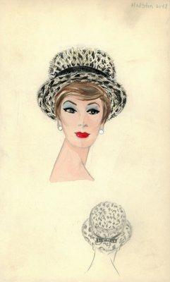 Halston leopard skin hat