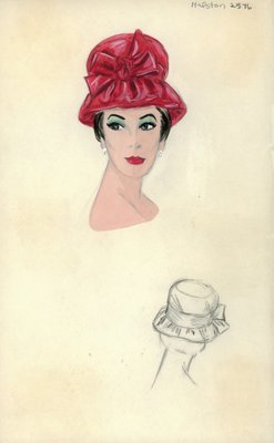 Halston red hat