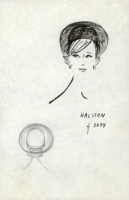 Halston straw roller with bow